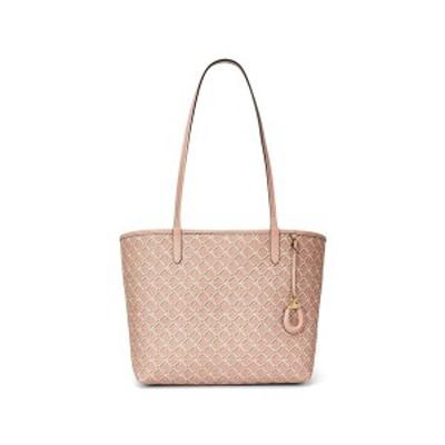 ラルフローレン レディース トートバッグ バッグ Leather Medium Collins Tote Mellow Pink/Gold