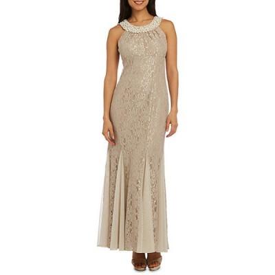 アールアンドエムリチャーズ レディース ワンピース トップス Women's Lace and Pearls Long Social Occasion Gown
