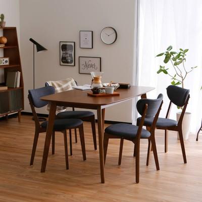 [幅140] ダイニングテーブルセット 4人掛け(5点) 天然木使用  北欧風