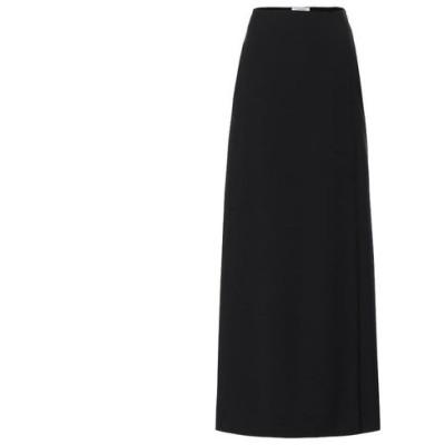 ヴァレンティノ Valentino レディース ロング・マキシ丈スカート スカート Wool and mohair maxi skirt Nero