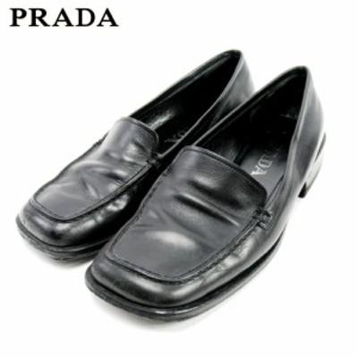 プラダ ローファー シューズ 靴 #36 ブラック PRADA 中古 C3592