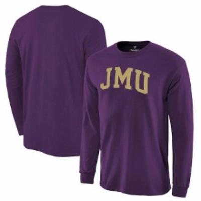 Fanatics Branded ファナティクス ブランド スポーツ用品  Fanatics Branded James Madison Dukes Purple Basic Arch Long Sleeve Expans