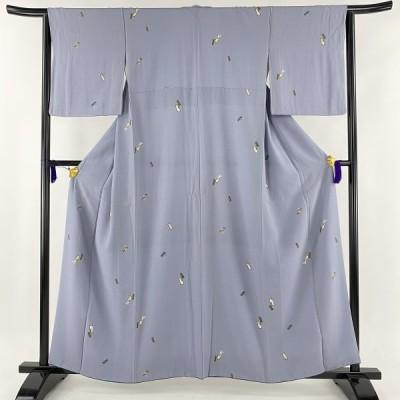 小紋 美品 優品 短冊 玩具 薄紫 袷 身丈161.5cm 裄丈63cm S 正絹 【中古】 PK30