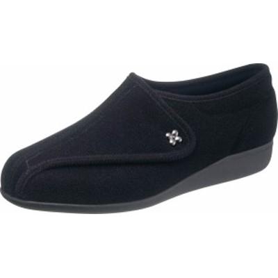 asahi shoes(アサヒシューズ) 快歩主義 介護靴 KHS L011-5E 左足 片足販売 C265【ブラックパイル】 レディース KS23584LT