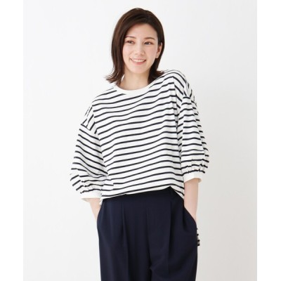 SHOO・LA・RUE / ランタンスリーブ配色ステッチTシャツ WOMEN トップス > Tシャツ/カットソー