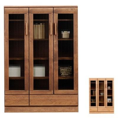 リビングボード キャビネット 完成品 幅90cm 本棚 収納家具 北欧 日本製