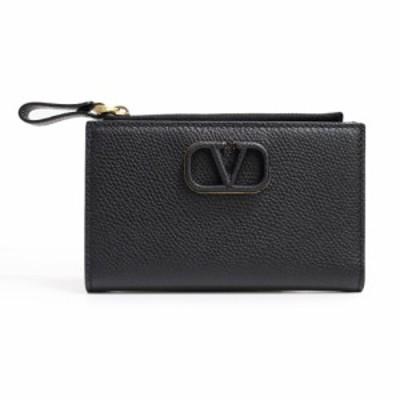 (新品・未使用) ヴァレンティノ ガラヴァーニ Vスリング レザー カードケース コインケース 黒 箱付