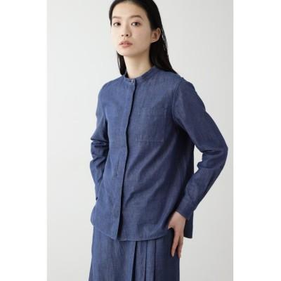 (HUMAN WOMAN/ヒューマンウーマン)◆≪Japan Couture≫反応染めデニムブラウス/レディース インディゴ