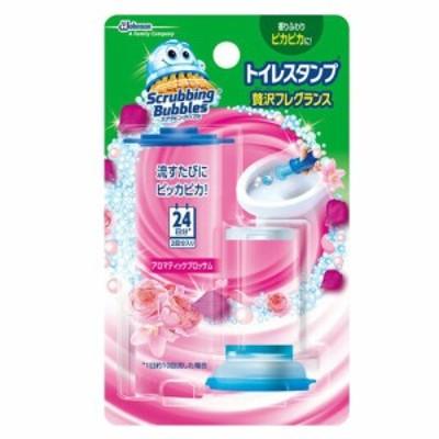 スクラビングバブル トイレ洗浄剤 トイレスタンプ 贅沢フレグランス アロマティックブロッサムの香り 本体 (ハンドル1本+付替用1本) 12