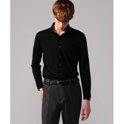 TOMORROWLAND/トゥモローランド ウールジャージー セミワイドカラーシャツ REDA ACTIVE UTILITY 19 ブラック M