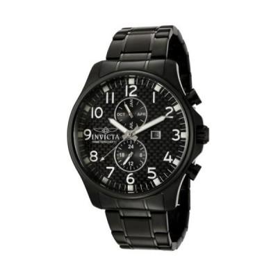 腕時計 インヴィクタ Invicta 0383 Men's Oversized Quartz Chronograph Carbon Fiber Dial Watch