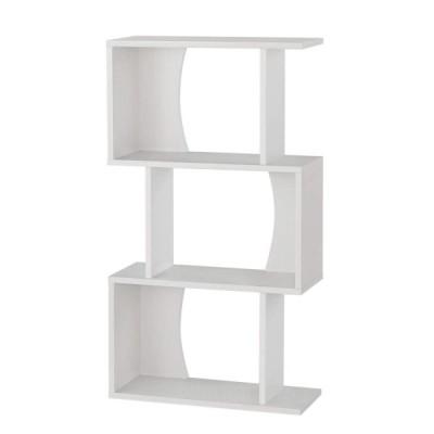 白井産業 ディスプレイラック 約 幅60 奥行24 高さ108 cm 本 棚 bookshelf ホワイト (COB-1160 WH コビナス)