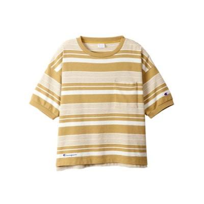 チャンピオン Champion レディース ボーダーTシャツ BORDER T-SHIRT カジュアル シャツ【191013】