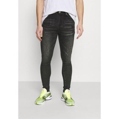 グッドフォーナッシング デニムパンツ メンズ ボトムス Slim fit jeans - black