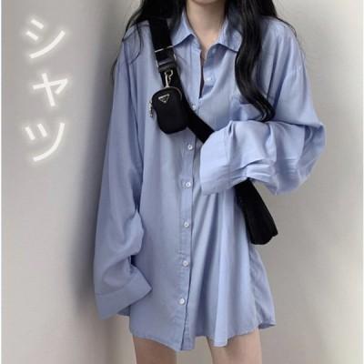 アルシャツ おしゃれ 襟付き レディース シンプル 快適 大きいサイズ 無地 ボタン付き レギュラー 日焼けどめのシャツ