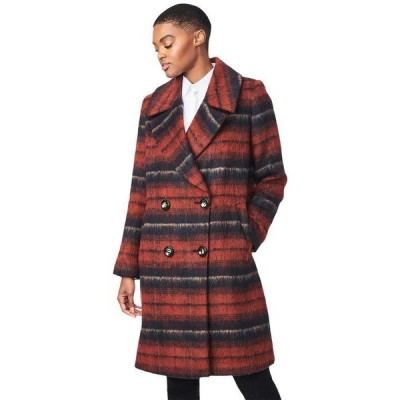 ベルナルド ファッションズ レディース コート アウター Brushed Plaid Wool Coat