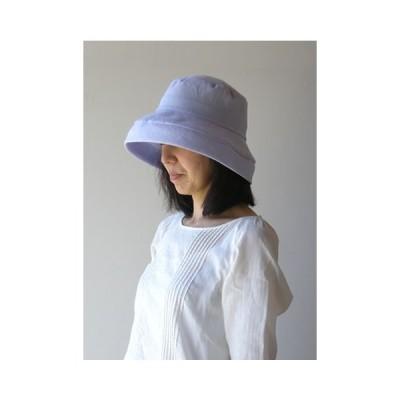 リネン帽子 ブルー