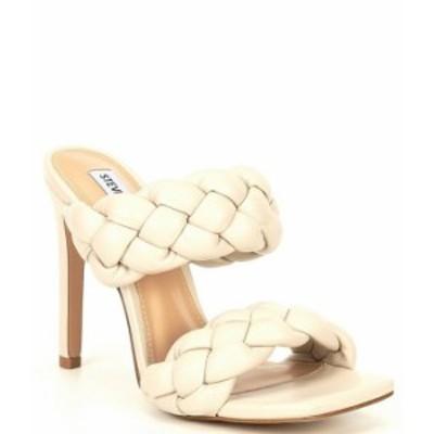 スティーブ マデン レディース サンダル シューズ Kenley Braided Stiletto Dress Mules Off-White