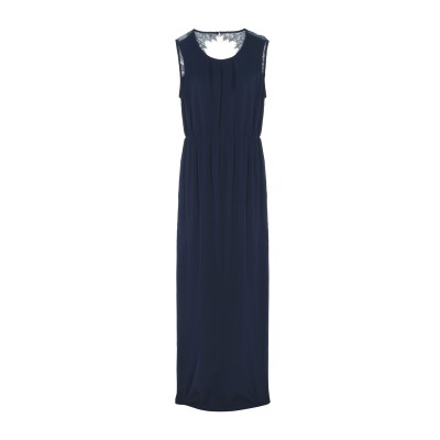 MINIMUM ロングワンピース&ドレス ダークブルー 38 レーヨン 100% ロングワンピース&ドレス