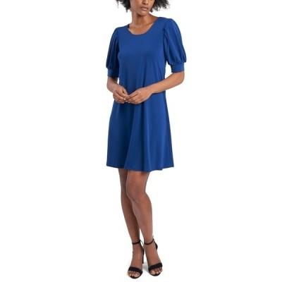 ミスク ワンピース トップス レディース Petite Puff-Sleeve Sheath Dress Royal