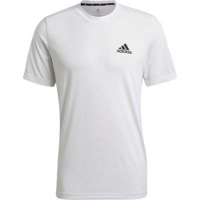 アディダス マルチスポーツ M D2M FR Tシャツ 21Q1 WHT/BLK Tシャツ(iwo37-gt5558)