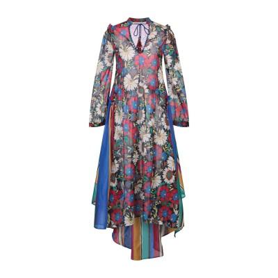 アンジュナ ANJUNA 7分丈ワンピース・ドレス レッド XS コットン 100% 7分丈ワンピース・ドレス