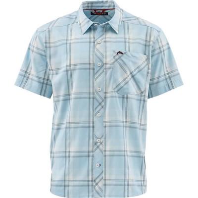 シムズ シャツ メンズ トップス Simms Men's Outpost SS Shirt Mist Plaid