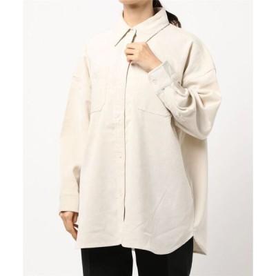 シャツ ブラウス CR コーデュロイワイドシャツ