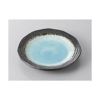 組皿 ブルー貫入12角リム4.0皿 [14 x 2.3cm]  料亭 旅館 和食器 飲食店 業務用