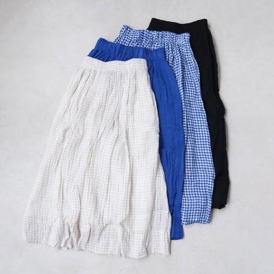 Veritecoeur ヴェリテクール シャーリングスカート【全4色】(BLACK)