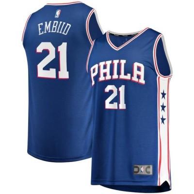 キッズ スポーツリーグ バスケットボール Joel Embiid Philadelphia 76ers Fanatics Branded Youth 2019/20 Fast Break Replica Jersey - Ic