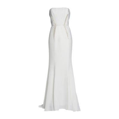 MIKAEL AGHAL ロングワンピース&ドレス ホワイト 2 ポリエステル 97% / ポリウレタン 3% ロングワンピース&ドレス