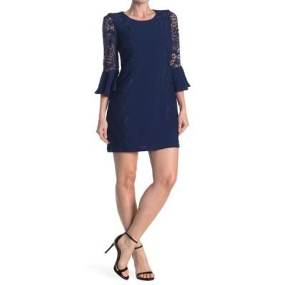 ケンジー レディース ワンピース トップス Lace Bodycon Dress NAVY