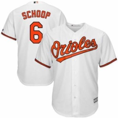 Majestic マジェスティック スポーツ用品  Majestic Jonathan Schoop Baltimore Orioles White Cool Base Home Player Jer