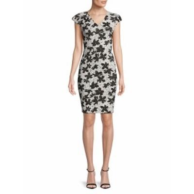 カルバンクライン レディース ワンピース Floral V-Neck Dress