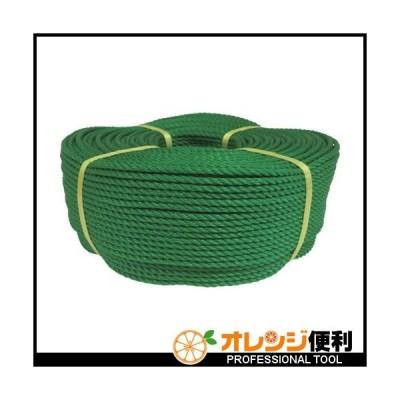 ユタカメイク ロープ PEロープ巻物 5φ×200m グリーン PE-93 (5X200M) 【113-7027】