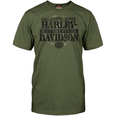 ハーレー★ HARLEY-DAVIDSON Military - Men's Graphic Short-Sleeve Tee - Overseas Tour | Honor 輸入品