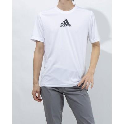 アディダス adidas メンズ 半袖機能Tシャツ MD2M3ストライプスTシャツ GM2135 (ホワイト)