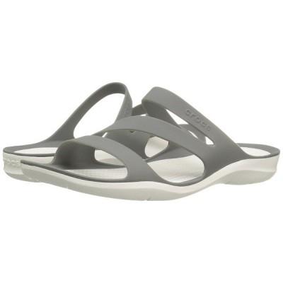 クロックス サンダル シューズ レディース Swiftwater Sandal Smoke/White