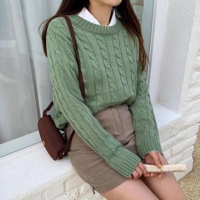 ENVYLOOK レディース ニット/セーター Simple Twisted Knitwear