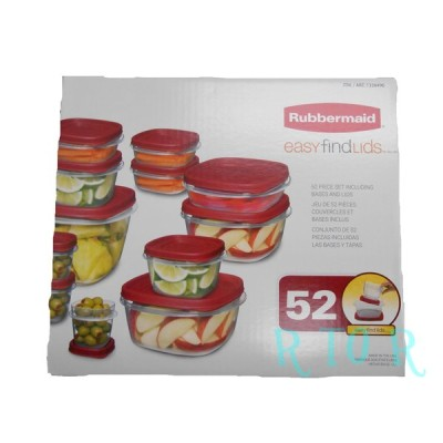 Rubbermaid ラバーメイド 「easy find lids」 26ピースセット 保存容器/コンテナ/お弁当箱