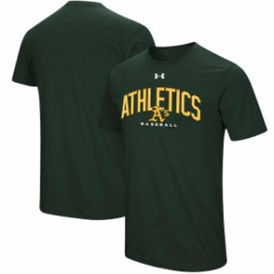 Under Armour アンダー アーマー スポーツ用品  Under Armour Oakland Athletics Green Performance Arch T-Shirt
