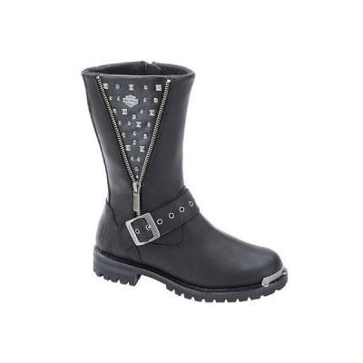 ハーレーダビッドソン?ブーツ シューズ 靴Harley-Davidson レディース Tanya 9.25-Inch ブラック Motorcycle ブーツ. インサイドZip D87052