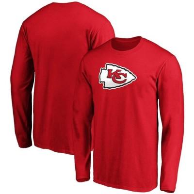 """ファナティックス メンズ Tシャツ 長袖 ロンT """"Kansas City Chiefs"""" Fanatics Branded Primary Logo Long Sleeve T-Shirt - Red"""