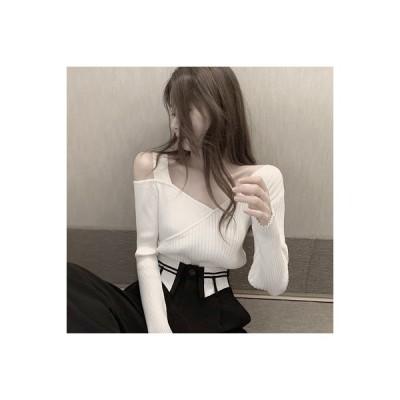 【送料無料】アーリー 秋 ネット レッド 襟 ニット 年 黒い長袖Tシャツ 着やせ | 346770_A63493-6036658