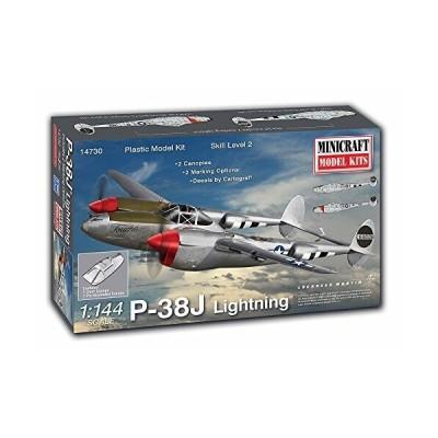 ミニクラフト 1/144 第二次世界大戦 アメリカ陸軍航空軍 第8空軍 P-38Jライトニング プラモデル MC14730