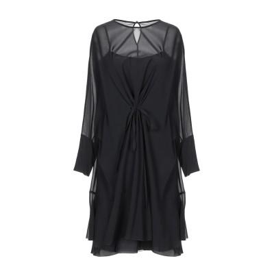 レッド ヴァレンティノ REDValentino ミニワンピース&ドレス ブラック S シルク 91% / ポリウレタン 9% ミニワンピース&ドレス
