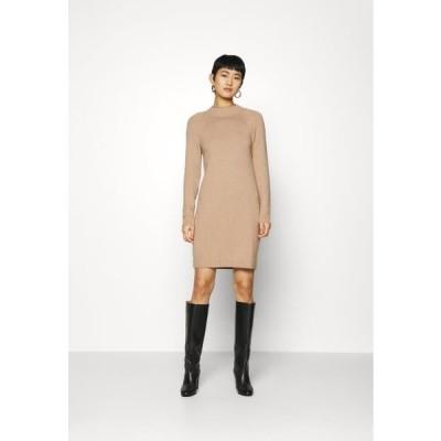 バナナパブリック レディース ファッション FUNNEL NECK - Jumper dress - camel