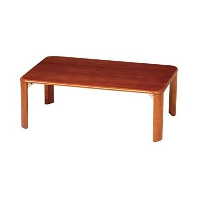 弘益 シンプル座卓テーブル 折たたみ 90x60cm ブラウン Z-T9060BR