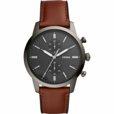 フォッシル FOSSIL メンズ 腕時計 クロノグラフ Townsman Chronograph Leather Strap Watch. 44Mm Brown/Grey/Smoke